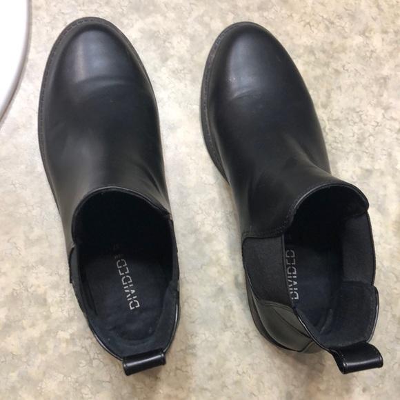 Hm Black Faux Leather Chelsea Boots